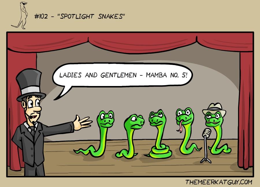 Spotlight snakes