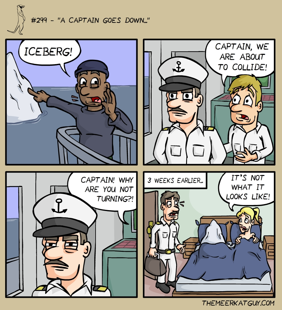 A captain goes down…